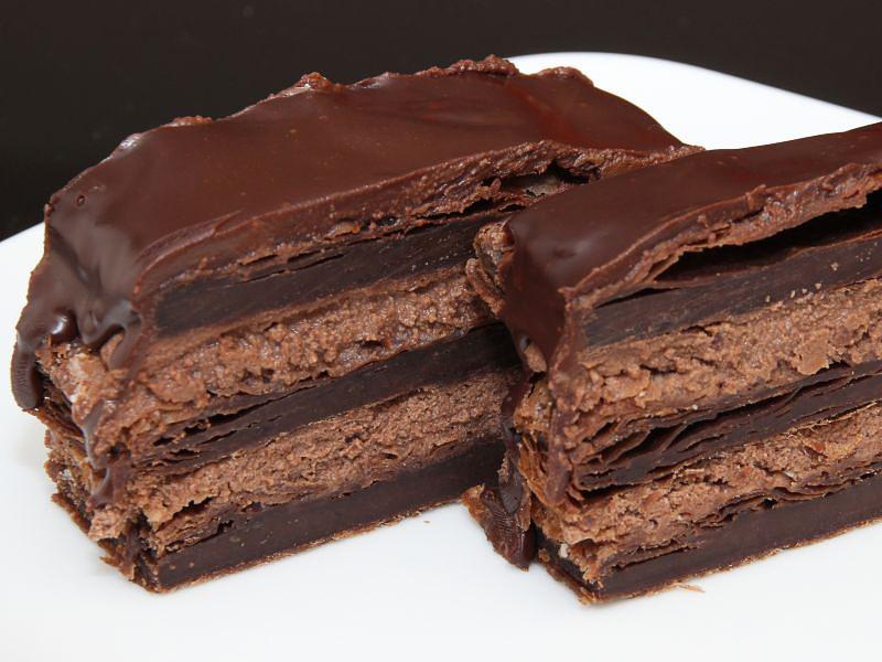 schokoladen millefeuille