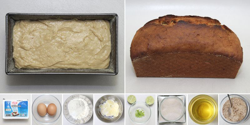 Limetten-tofu-cake serie