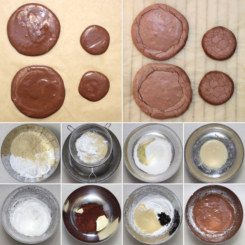 Schokoladen Makronenbiskuit Serie