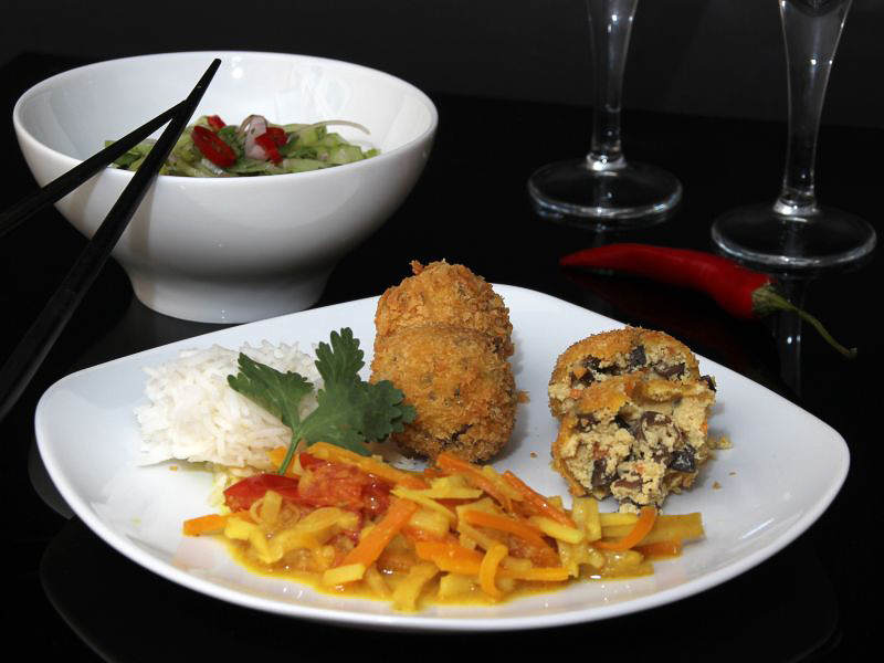 Gelbes Thai-Curry mit Tofubällchen 6