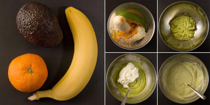 Avocado bananen kompott serie