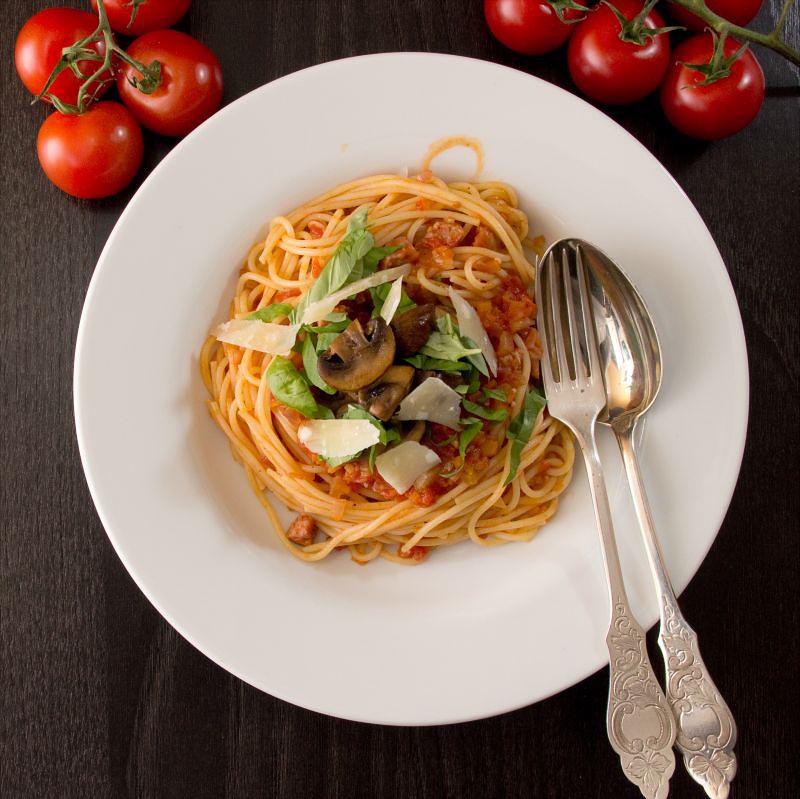 spaghetti mit Salsicce 7