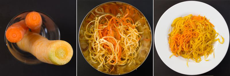 möhren-spaghetti