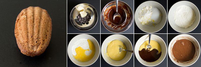 schokoladen madeleines serie