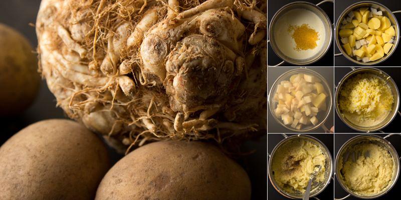 Kartoffel-Sellerie-Püree serie