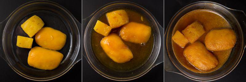 ananas-mango-karamelliserter vanillesirup serie