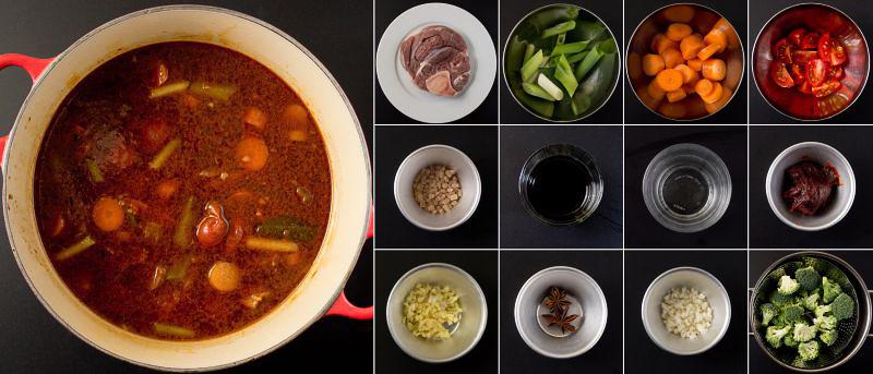 taiwanesische rindfleisch-nudel-suppe serie
