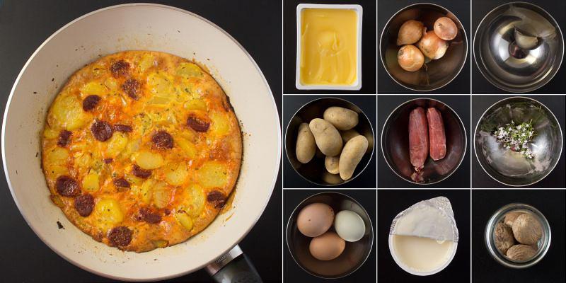 Zubereitung Tortilla serie