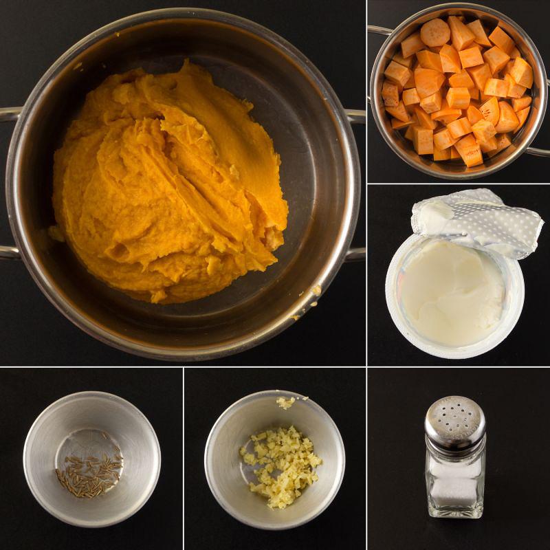 süßkartoffelpüree serie