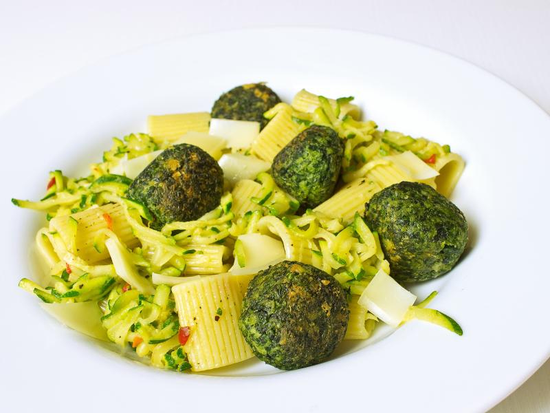 pasta mit spinatbällchen 3