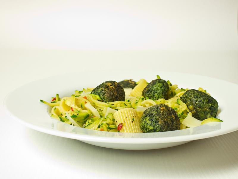 pasta mit spinatbällchen 4