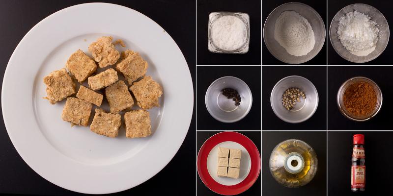 Frittierter Tofu Serie