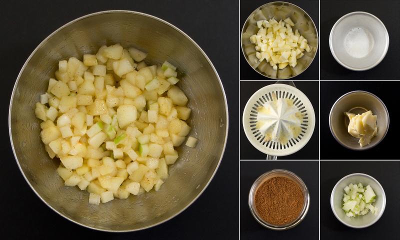 Gebratene Äpfel Serie