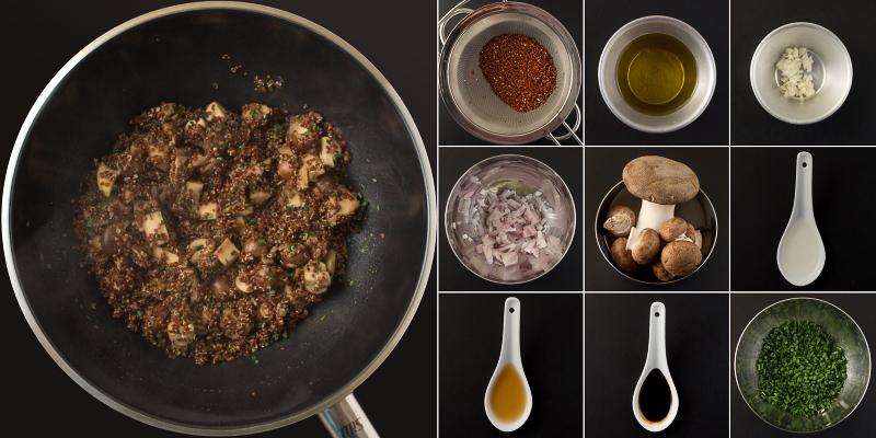 rote quinoa mit pilzen Serie