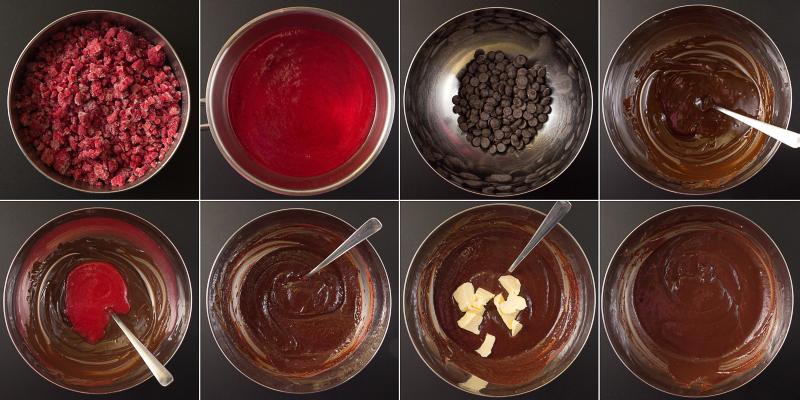 Schokoladen-Himbeer-Ganache Serie