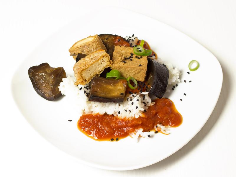 Tofu Ottolenghi mit Auberginen 4