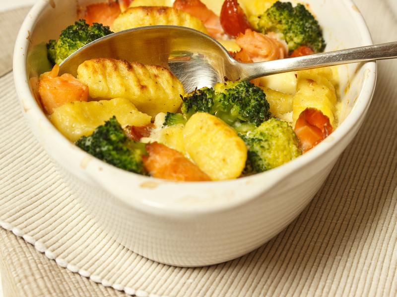 Kartoffelgnocchi mit Lachs und Gorgonzola 1
