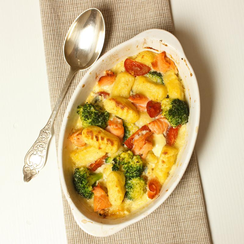 Kartoffelgnocchi mit Lachs und Gorgonzola 7