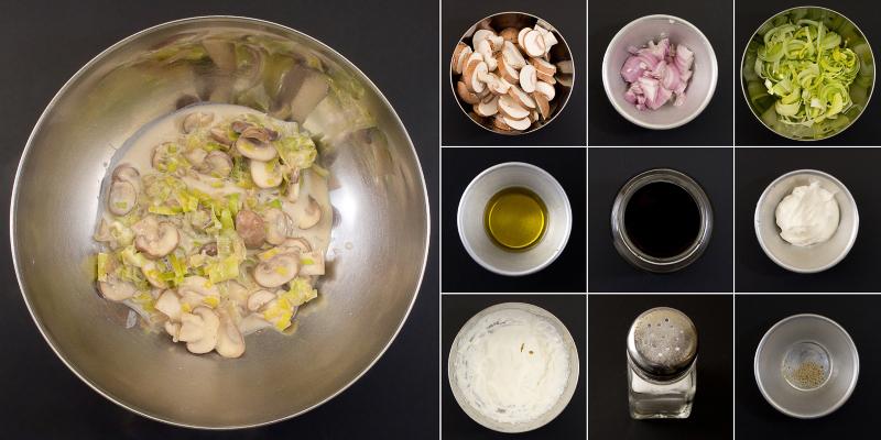 Sauerrahmsosse mit Pilzen Serie