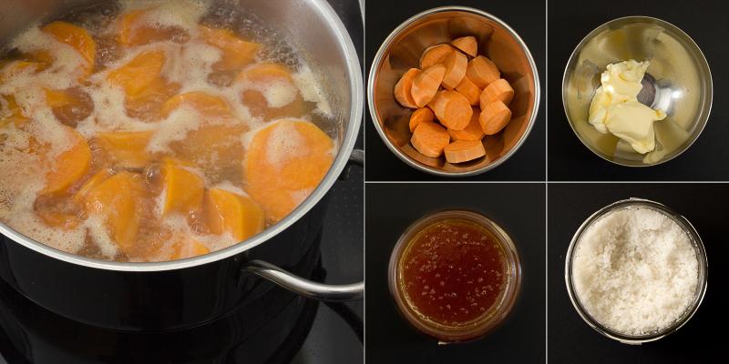 Honig-Süsskartoffeln Serie