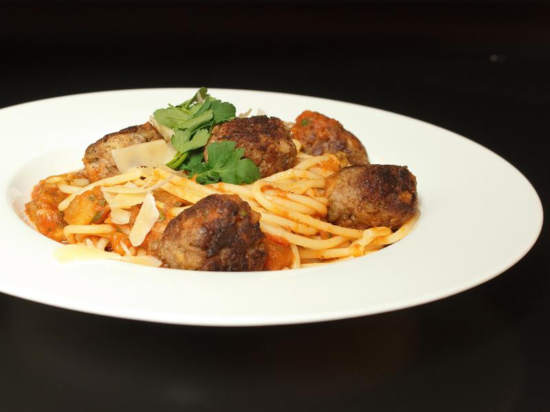 Spaghetti mit Auberginenhackbällchen 2