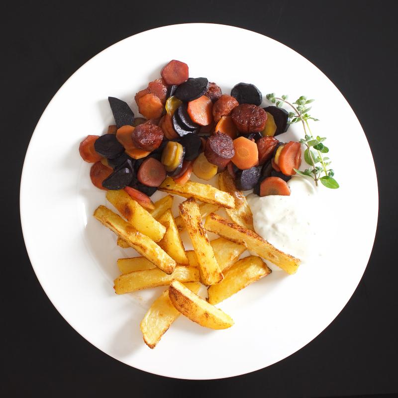 Pommes mit Möhren und Chorizo 3