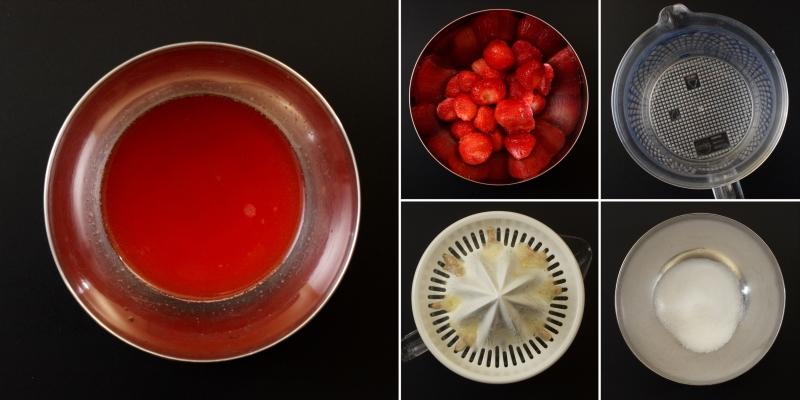 Erdbeer-Glasur