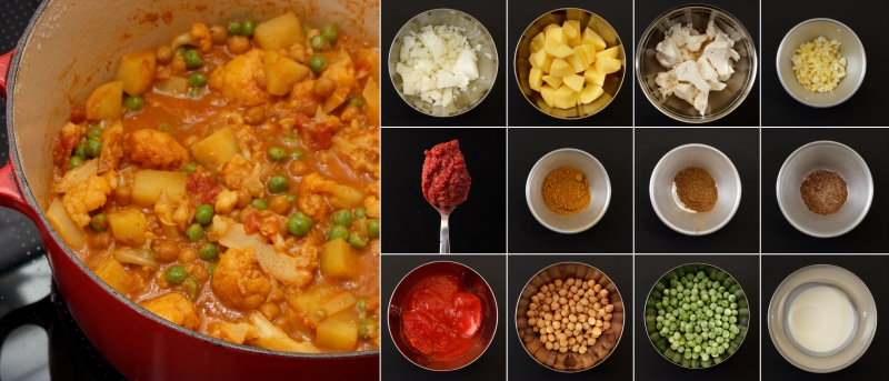 blumenkohl curry serie