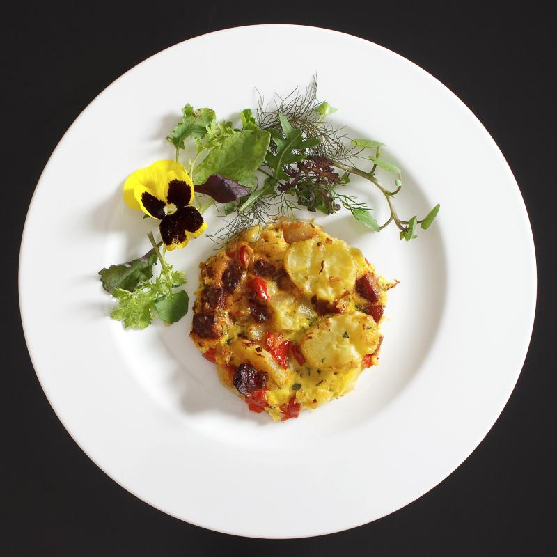 Tortilla mit Chorizo1