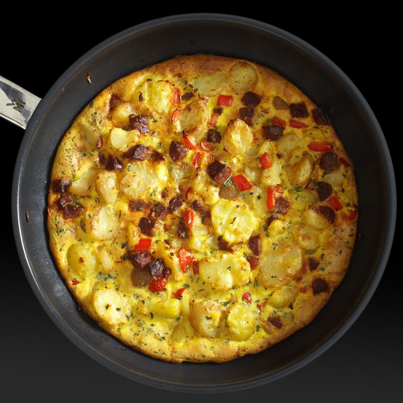 Tortilla mit Chorizo 3