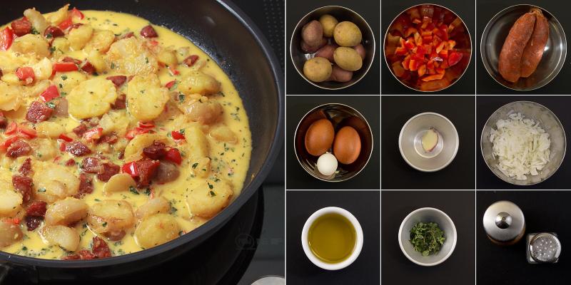Tortilla mit Chorizo Serie