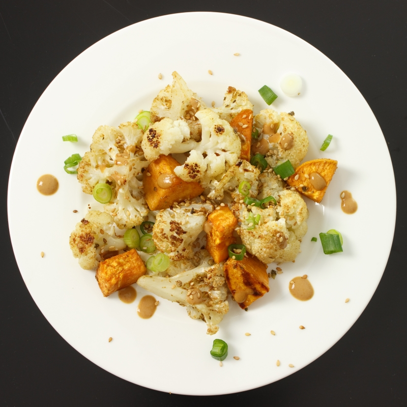 Blumenkohl-Süßkartoffel-Salat