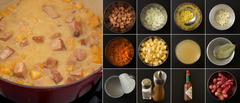Curry mit Kassler und Steckrübe Serie
