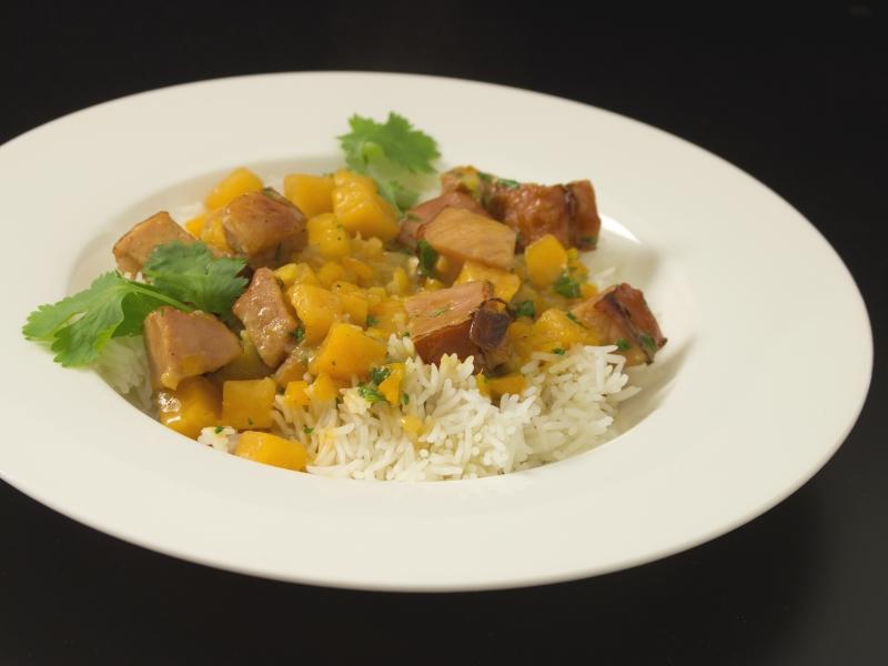 Curry mit Kassler und Steckrübe 2