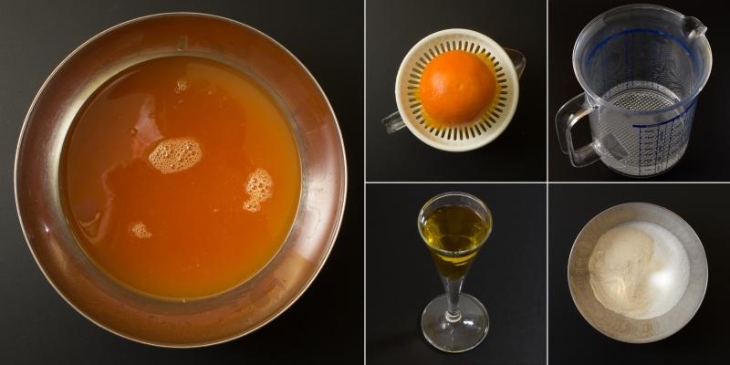 Orangenglasur