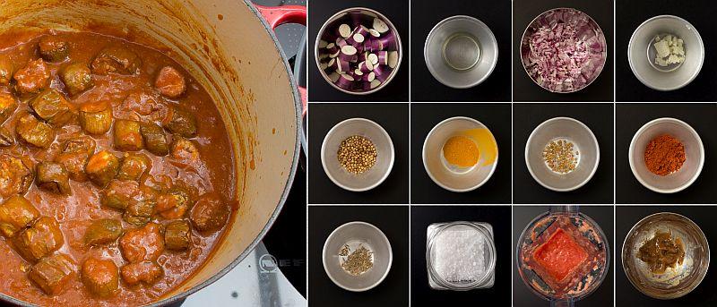 Fisch-Curry mit Auberginen serie